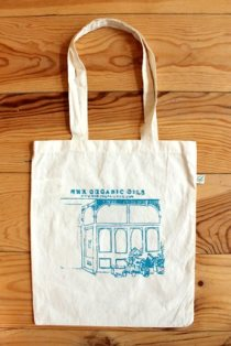 Beautiful hand printed NHR Organic Cotton Bag